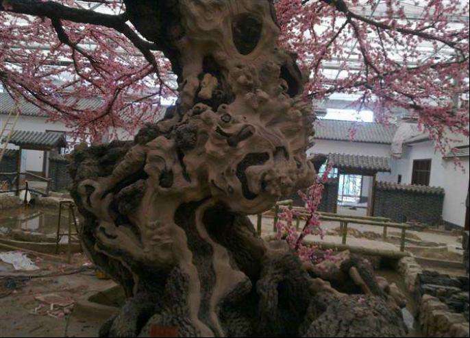 仿真桃花水泥树哪家有